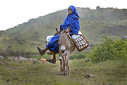 Kadija Anya, 38,  who is a traditional birth assistant, August 29, 2006 in the village of Shilabo, nearf Barentu, Eritrea.    (Photo by Ami Vitale)
