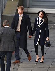 Prince Harry and fiancee Meghan Markle  pay their first royal visit to Birmingham  The pair  arrived in the city at 11am for a whistle -stop tour, taking in Millennium Point and Nechells Wellbeing Centre<br /><br />8 March 2018.<br /><br />Please byline: Vantagenews.com