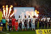 OM team of Marseille before the French Championship Ligue 1 football match between Olympique de Marseille and Paris Saint-Germain on October 22, 2017 at Orange Velodrome stadium in Marseille, France - Photo Philippe Laurenson / ProSportsImages / DPPI