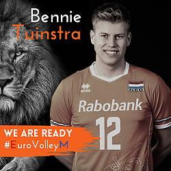 Bennie Tuinstra of Netherlands, Photoshoot selection of Orange men's volleybal team season 2021on may 11, 2021 in Arnhem, Netherlands (Photo by RHF Agency/Ronald Hoogendoorn)