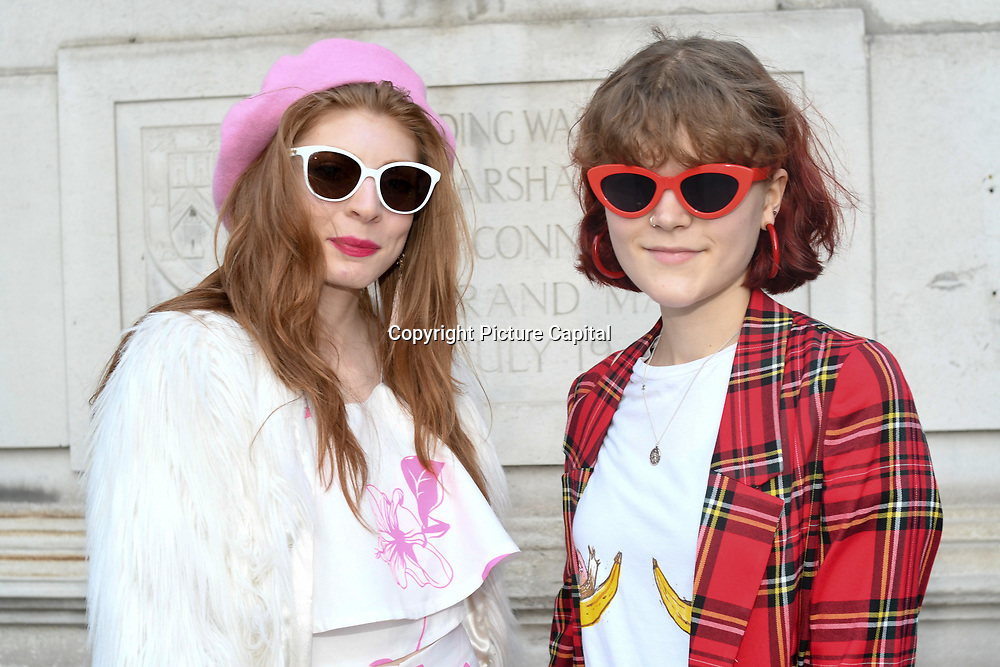 Jenny Pickets Stylist & Eleanor Garrard is a designer attend Fashion Scout - SS19 - London Fashion Week Day 2, De Vere Grand Connaught Rooms, London, UK. 16 September 2018