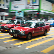 Taxis on Nathan Road, Mong Kok, Hong Kong