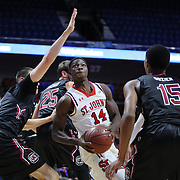 Kassoum Yakwe, St. John's, drives to the basket during the St. John's vs South Carolina Men's College Basketball game in the Hall of Fame Shootout Tournament at Mohegan Sun Arena, Uncasville, Connecticut, USA. 22nd December 2015. Photo Tim Clayton