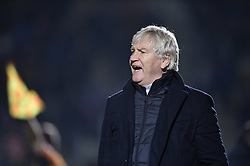 January 10, 2018 - Tubize, BELGIUM - Beerschot's head coach Marc Brys reacts during a soccer game between AFC Tubize and Beerschot-Wilrijk, in Tubize, Wednesday 10 January 2018, on day 19 of the division 1B Proximus League competition of the Belgian soccer championship. The game was postponed because of bad weather conditions on December 10th. BELGA PHOTO JOHN THYS (Credit Image: © John Thys/Belga via ZUMA Press)