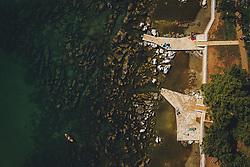 THEMENBILD - wenig Touristen an der Stränden und im Wasser, aufgenommen am 03. Juli 2020 in Porec, Kroatien // few tourists on the beaches and in the water in Porec, Croatia on 2020/07/03. EXPA Pictures © 2020, PhotoCredit: EXPA/ JFK