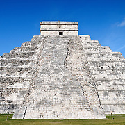 El Castillo (also known as Temple of Kuklcan) at the ancient Mayan ruins at Chichen Itza, Yucatan, Mexico 081216092342_4390.NEF