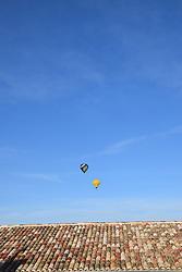 Hot air balloons, Uzes, Gard, Southern France 2021