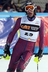 Urs Imboden at 9th men's slalom race of Audi FIS Ski World Cup, Pokal Vitranc,  in Podkoren, Kranjska Gora, Slovenia, on March 1, 2009. (Photo by Vid Ponikvar / Sportida)