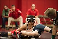 St Paul's School varsity wrestling with Belmont Hills.  ©2014 Karen Bobotas Photographer