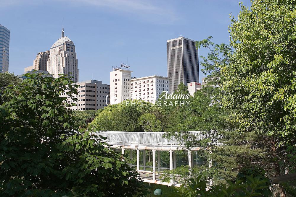 JUNE 5, 2007, OKLAHOMA CITY, OK.:  Downtown Oklahoma City as seen from the Myriad Botanical Gardens on Tuesday, June 5, 2007.  (Photo by: Alonzo J. Adams).