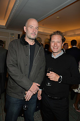 Left to right, JAKE CHAPMAN and ADAM COHEN at a the Fortnum's X Frank private view - an instore exhibition of over 60 works from Frank Cohen's collection at Fortnum & Mason, 181 Piccadilly, London on 12th September 2016.