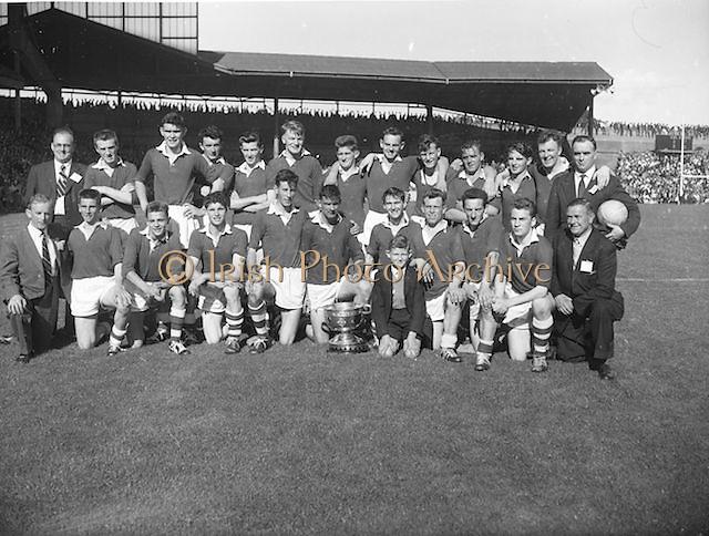 Cork team at the All Ireland Minor Gaelic Football Final Cork v. Mayo in Croke Park on the 24th September 1961.