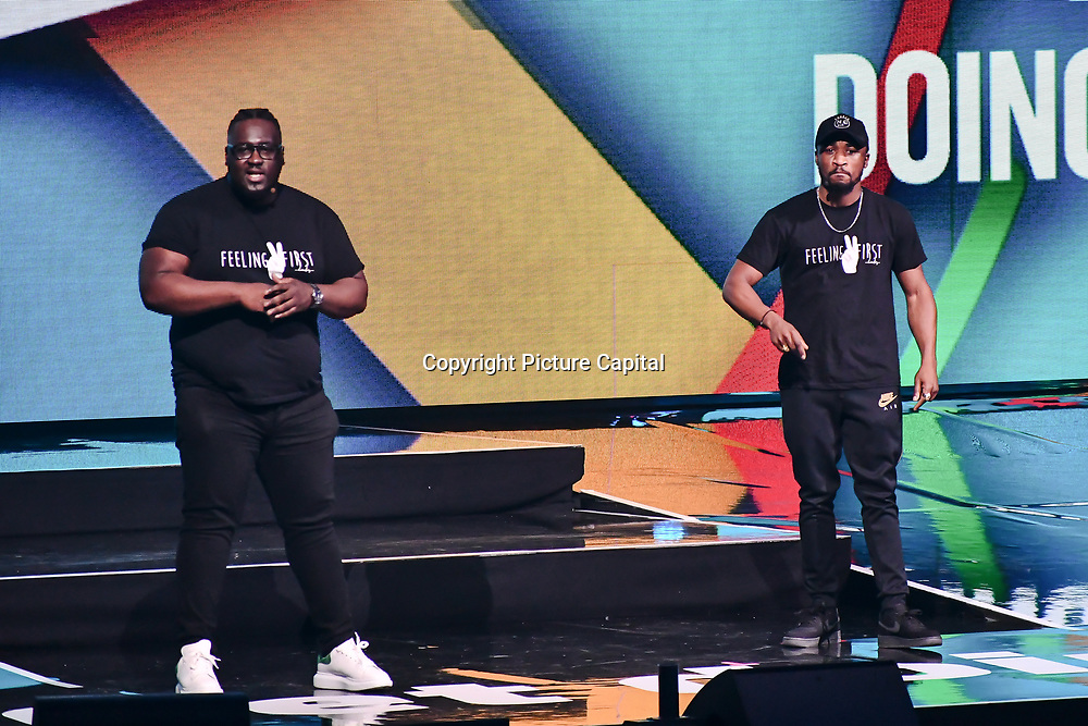 On stage attend WE Day UK at Wembley Arena, London, Uk 6 March 2019.