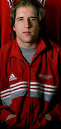 2/6/06 -- Omaha, Ne.University of Nebraska at Omaha hockey player Scott Parse, who had 6 points (3 goals 3 assists) over the weekend to expand his NCAA Div 1 lead in points to 51, eight points over the number 2 scorer..(Photo by Chris Machian/Prarie Pixel Group).