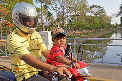 Young Child On Scooter