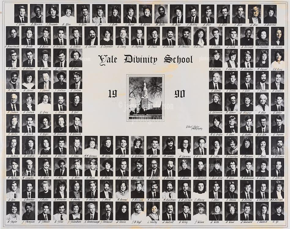 1990 Yale Divinity School Senior Portrait Class Group Photograph