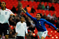 Photo: Alan Crowhurst.<br />England U21 v Italy U21. International Friendly. 24/03/2007. Italy's Gianpaolo Pazzini opens the scoring 0-1.