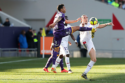 February 24, 2019 - Toulouse, France - 14 MATTHIEU DOSSEVI (TOU) - 27 ENZO CRIVELLI  (Credit Image: © Panoramic via ZUMA Press)