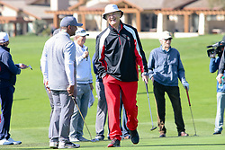 """Feb 6, 2019 Pebble Beach, Ca. USA TV, Film and singing stars that included BILL MURRAY, CLINT EASTWOOD, ALFONSO RIBEIRO whom played in the """"3M Celebrity Challenge"""" to try for part of the 100K purse to go to their favorite charity and win the Estwood-Murray cup, for which team Clint Eastwwod's group won.. The event took place during practice day of the PGA AT&T National Pro-Am golf on the Pebble Beach Golf Links. Photo by Dane Andrew c. 2019 contact: 408 744-9017  TenPressMedia@gmail.com"""