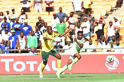 SOUTH AFRICA: JOHANNESBURG: Bafana Bafana player Hlompho Kekana battle for the ball with Nigeria player Ahmed Musa during the Africa Cup of Nations (Afcon) qualifier at the FNB stadium in Gauteng.<br />Picture: Itumeleng English/African News Agency(ANA)
