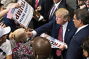 Republican presidential candidate Donald Trump visits with supporters after a rally at the American Airlines Center in Dallas, Texas on September 14, 2015. (Cooper Neill for The New York Times)
