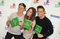 © Licensed to London News Pictures. 02/11/2013<br /> Made in Chelsea book signing (Life and Style Essentials) with<br /> LTR  Jamie Laing,Binky and Spencer Matthews  at W H SMITHS at Bluewater,Kent.<br /> Photo credit :Grant Falvey/LNP
