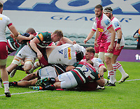 Rugby Union - 2020 / 2021 Gallagher Premiership - Round 19 - Leicester Tigers vs Harlequins - Welford Road<br /> <br /> Ellis Genge of Leicester gets their 2nd try with his push over try<br /> <br /> CreditCOLORSPORT/ANDREW COWIE