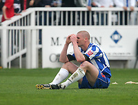 Photo: Andrew Unwin.<br />Hartlepool United v Port Vale. Coca Cola League 1. 06/05/2006.<br />A dejected Michael Nelson of Hartlepool.