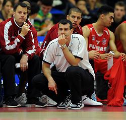 Bristol Flyers head coach, Andreas Kapoulas - Photo mandatory by-line: Dougie Allward/JMP - Mobile: 07966 386802 - 18/10/2014 - SPORT - Basketball - Bristol - SGS Wise Campus - Bristol Flyers v Durham Wildcats - British Basketball League