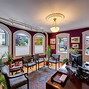 The lobby of a small privately owned consulting business. Taken for print and web marketing pieces.