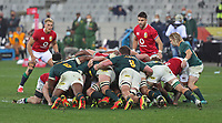Rugby Union - 2021 British & Irish Lions Tour of South Africa - Second Test: South Africa vs British & Irish Lions<br /> <br /> Scrum-halves Conor Murray and Faf de Klerk look on during a scrum, at Cape Town Stadium, Cape Town.<br /> <br /> COLORSPORT / JOHAN ORTON