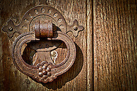 Close-up of an Antique Door Knob.