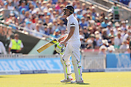 Ben Stokes of England is dismissed during the third day of the 5th Investec Ashes Test match between England and Australia at The Oval, London, United Kingdom on 22 August 2015. Photo by Ellie Hoad.
