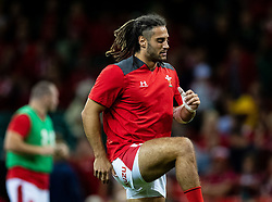 Josh Navidi of Wales during the pre match warm up<br /> <br /> Photographer Simon King/Replay Images<br /> <br /> Friendly - Wales v Ireland - Saturday 31st August 2019 - Principality Stadium - Cardiff<br /> <br /> World Copyright © Replay Images . All rights reserved. info@replayimages.co.uk - http://replayimages.co.uk