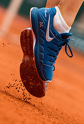 May 29, 2018 - Paris, France - A detailed view of the trainers of Maria Sharapova of Russia during the first round at Roland Garros Grand Slam Tournament - Day 3 on May 29, 2018 in Paris, France. (Credit Image: © Robert Szaniszlo/NurPhoto via ZUMA Press)