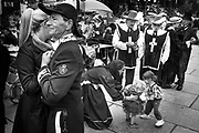 Ghent, Belgium, 26 jul 2015, Bal 1900 - folkloristic tradition - mother dances with her children. .