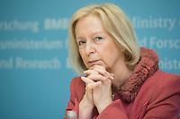 """11 MAR 2015, BERLIN/GERMANY:<br /> Johanna Wanka, CDU, Bundesforschungsministerin, waehrend einer Pressekonefernz zur Vorstellung des neuen Forschungsprogramms """"Selbstbestimmt und sicher in der Digitalen Welt"""", Bundesministerium fuer Forschung und Bildung<br /> IMAGE: 20150311-01-007<br /> KEYWORDS: Cybersicherheit"""
