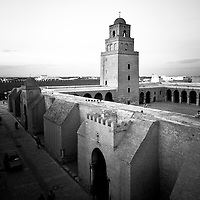Kairouan, Tunisia 27 October 2011<br /> The mosque of Uqba, also known as the Great Mosque of Kairouan, is one of the most important mosques in Tunisia, located in the UNESCO World Heritage town of Kairouan.<br /> Built by the Arab general Uqba ibn Nafi as of 670 (the year 50 according to the Islamic calendar) at the founding of the city of Kairouan, the mosque is spread over a surface area of 9,000 square metres and it is one of the oldest places of worship in the Islamic world, as well as a model for all later mosques in the Maghreb region. The Great Mosque of Kairouan is one of the most impressive and largest Islamic monuments in North Africa. This vast space contains a large prayer hall, a huge marble-paved courtyard and a massive square minaret. In addition to its spiritual prestige, the mosque of Uqba is one of the masterpieces of both architecture and Islamic art.<br /> Photo: Ezequiel Scagnetti