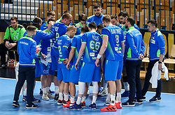 Team Slovenia during handball match between National Teams of Slovenia and Poland in Qualification Phase 2 of Men's EHF Euro 2022 Qualifiers, on March 9, 2021 in Arena Zlatorog, Celje, Slovenia. Photo by Vid Ponikvar / Sportida