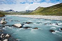 Muru river in Memurudalen, Jotunheimen national park, Norway