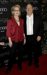 Oct. 10, 2017 -  (File Photo) - Movie producer Harvey Weinstein is being accused of sexual harassment allegations, which has led to him being fired. PICTURED: Jan. 14, 2012 - Beverly Hills, California, U.S. - MERYL STREEP and  HARVEY WEINSTEIN .(Credit Image: © Panoramic/ZUMAPRESS.com)