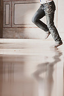 A girl runs inside the Umayyad Mosque in Damascus, Syria.<br /><br />(June 3, 2010)
