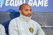 Belgian assistant coach Thierry Henry before the International Friendly match between Scotland and Belgium at Hampden Park, Glasgow, United Kingdom on 7 September 2018.