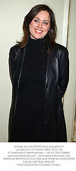 Actress JILL HALFPENNY at a reception in London on 11th March 2003.PHW 162