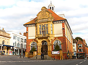 Historic town hall building, Marlborough, Wiltshire, England, UK, built 1902