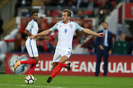 Harry Kane of England in action.  FIFA World cup qualifying match, European group F, England v Slovakia at Wembley Stadium in London on Monday 4th September 2017.<br /> pic by Andrew Orchard, Andrew Orchard sports photography.