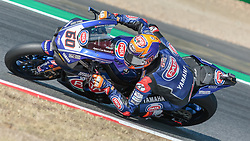 September 28, 2018 - 60, Michael van der Mark, NED, Yamaha YZF R1, Pata Yamaha Official WorldSBK Team, SBK 2018, MOTO - SBK Magny-Cours Grand Prix 2018, Free Practice 2, 2018, Circuit de Nevers Magny-Cours, Acerbis French Round, France ,September 28 2018, action during the SBK Free Practice 2 of the Acerbis French Round on September 28 2018 at Circuit de Nevers Magny-Cours, France (Credit Image: © AFP7 via ZUMA Wire)