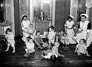 St Ultan's Hospital for Sick Children.13/01/1955..St Ultan's Hospital was established in 1919 by Dr Kathleen Lynn and Madeleine ffrench-Mullen in response to socio-medical conditions in Dublin. It was not unusual for women to establish hospitals. This had happened in Britain and the United States in the late nineteenth century to facilitate women's access to the medical profession. Women on missionary activity in India and China had established hospitals for the local population. Although the Ulster Hospital for Women and Children and the Belfast Hospital for Sick Children were established in 1873 by men, they provided employment for female doctors. International developments also motivated St Ultan's founders, as they noted that Dundee, Manchester and London had opened hospitals for women. St Ultan's closed in 1984.