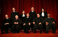 The Official photograph of the United States Supreme Court on September 29,2009.  (left to right: first row Justice Anthony Kennedy, Justice John Paul Stevens, Chief Justice John  G. Roberts, Justice Antonin Scalia,Justice Clarence Thomas, Second row:  Justice Samuel A. Alito, Justice Ruth Bader Ginsburg, Justice Stephen Breyer, Justice Sonia Sotomayor)  Photograph: Dennis Brack