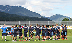 04.08.2014, Athletic Area, Schladming, AUT, Hertha BSC, im Bild eine Besprechung auf dem Spielfeld // during a training session of the German Bundesliga Club Hertha BSC at the Athletic Area, Austria on 2014/08/04. EXPA Pictures © 2014, PhotoCredit: EXPA/ Martin Huber